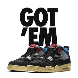Jordan 4 x union la